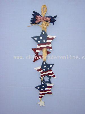 USA National Flag Decoration - Raffia Grass