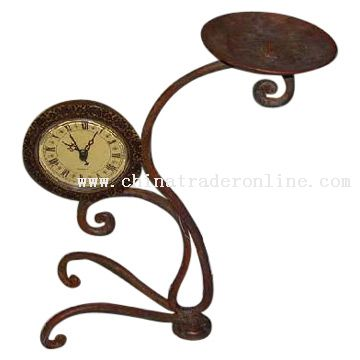 Clock and Candleholder