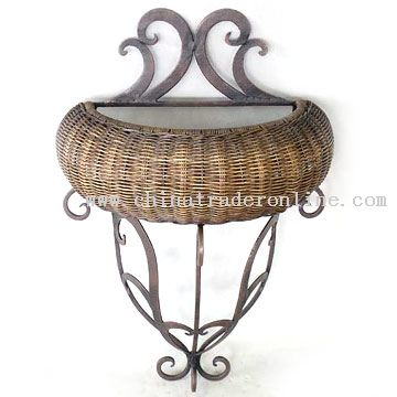 Iron, Rattan Wall Decor