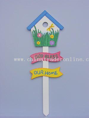 Garden Stake Ornament Bird House