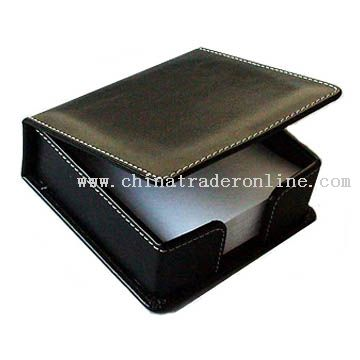 Leather/imitate leather memo pad box