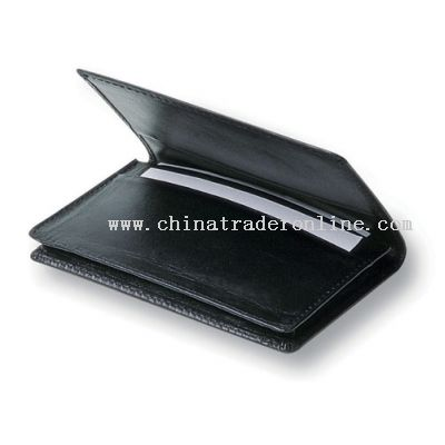 Business Card Holder with 10mm gusset and manufactured in Brazillian Cowhide