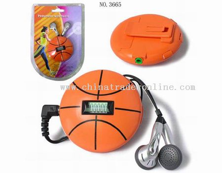 Basketball-shaped Pedometer with Radio