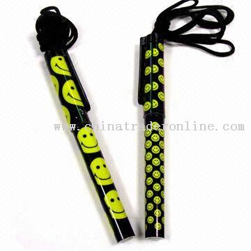 Smiley Printed Plastic Novelty Pens