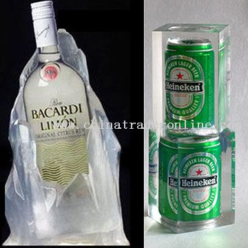 Clear Polyresin Display Bottle