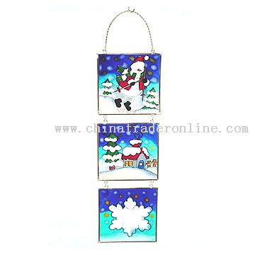 Glass Printed Hanging Ornament
