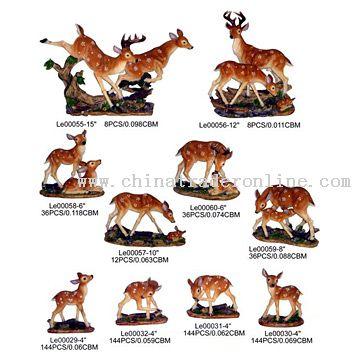 Polyresin Deers