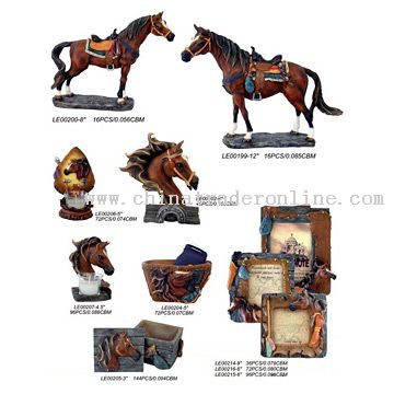Polyresin Horses from China