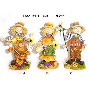 Polyresin Scarecrow Decorations