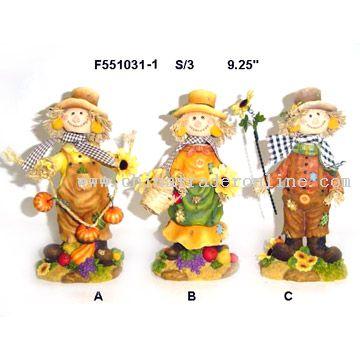 Polyresin Scarecrow Decorations