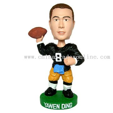 Football Player Bobble Head