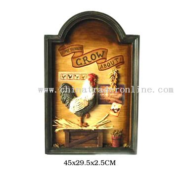 Cock Design Wall Plaque