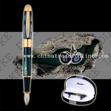 14K Gold Pen - Bright Pearl In The Dark Sea