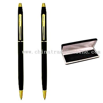 Ball Pens with gift case