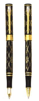 Acier Or-Noir Gold Black Dragon Pen