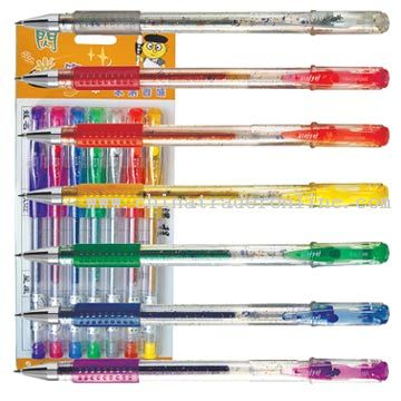 Seven Colors Glitter Pens