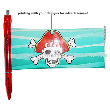 promotional flag ball pen