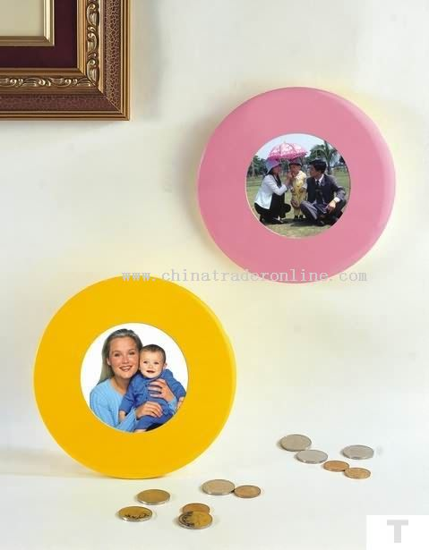 Store coin box with photoframe