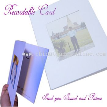 Recordable Greeting Card Model No.:CTO21582 Description: 1)Voice Duration: