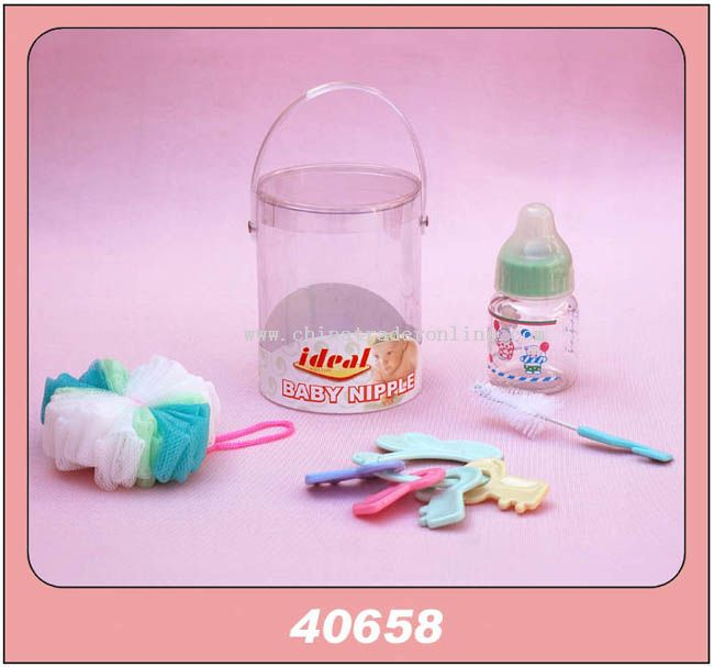 1PCS 2.5OZ BOTTLE BRUSH BATH BALL PVC CAN