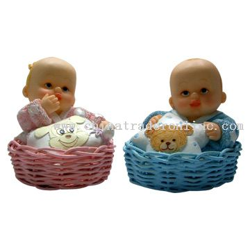 Babies with Basket