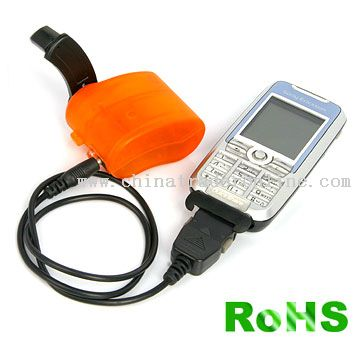 Dynamo LED Flashlight with Mobile Phone Charger from China