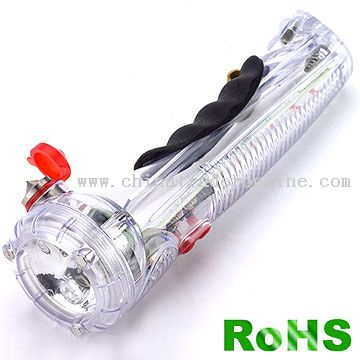 LED Flashlight With Car Alarm