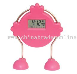 Transparent LCD clock from China