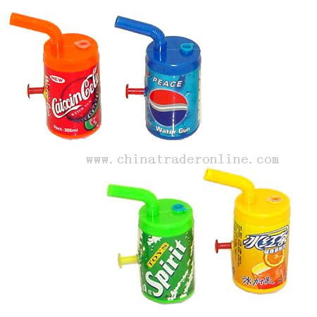 Water gun in drink bottle shape