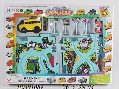 B/O puzzle railcar (15asst,16PCS)