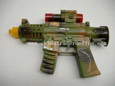Musical battery-operated gun