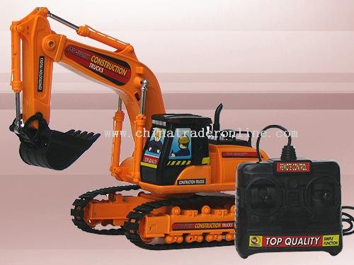 Wire control excavator