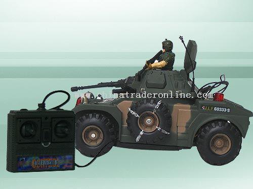 Wire control combat tank