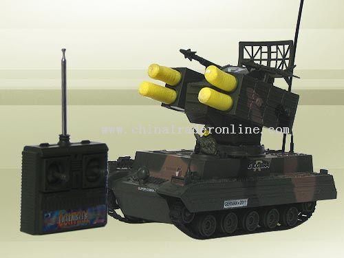 remote control missile tank