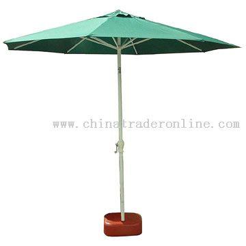 Aluminum Windproof Patio Umbrella with Title