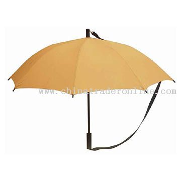 Auto Open Straight Umbrella with PP Strap