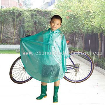 Frosting PVC Euro-Style Raincoat for Children