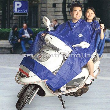 Pearl Shinning Nylon Motorcycle Raincoat Set