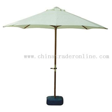 Windproof Wooden Patio Umbrella