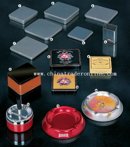 Tin Cigarette Boxes / Tin Ashtrays