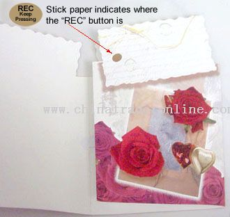 Voice Recordable Greeting Cards For Valentine from China