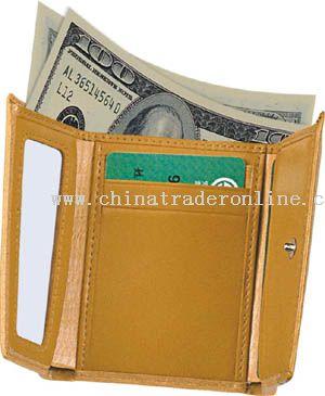 Color Split Leather Wallet