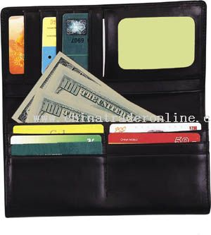 Long lether wallet with multi function pockets