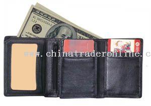 Nappa leather  three fold wallet