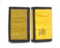 Nylon material wallet with three fold