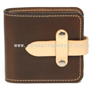 Real Leather Strap Wallet