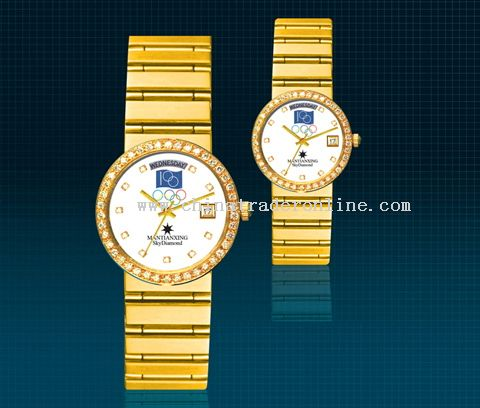 Memoril gold watch of the Olympic 100middle ages Watch