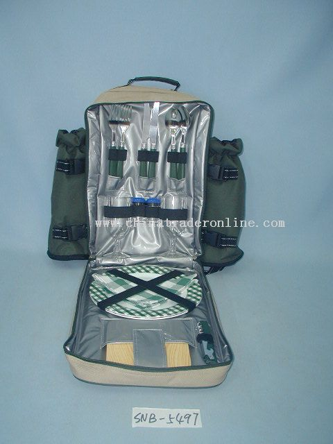 Picnic backpack for 2