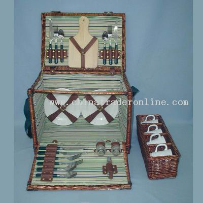 Willow picnic basket from China