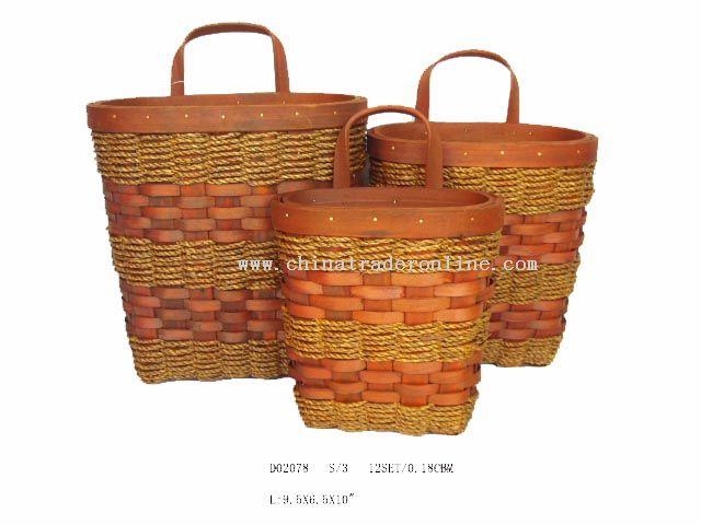 Sea Grass Wall basket s/3